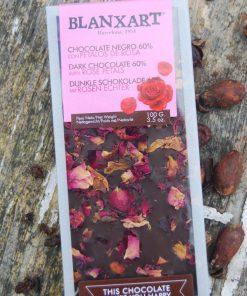 Mörk choklad med Rosenblad,