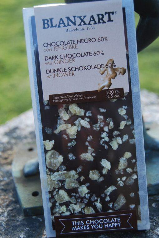Mörk choklad med ingefära,
