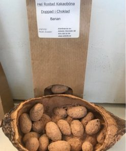 kakaoböna doppade i choklad & kakao, banan
