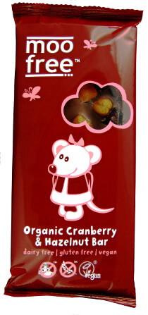 mjölkfri mjölkchoklad med tranbär/hasselnötter