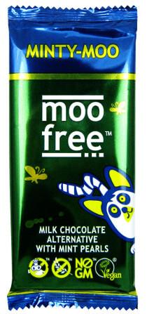 MooFree Mjölkchokladkaka 42% med mintpärlor 100g
