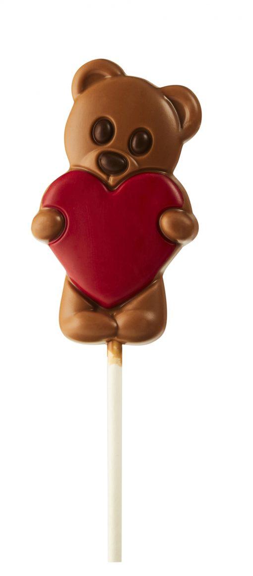 Zebeda Chokladklubba Mjölkchoklad Nalle med Rött hjärta